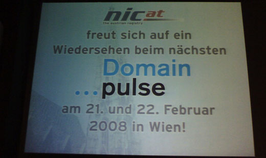 Domain Pulse 2007 - Biss nachsten Domain Pulse