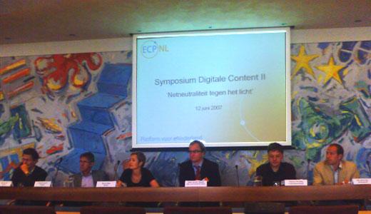 Panel symposium Netneutraliteit tegen het licht
