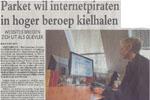 Telegraaf artikel over internet piraterij verdachten hoger beroep