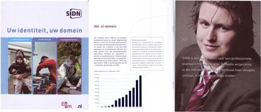 SIDN Brochure met Arnout Veenman