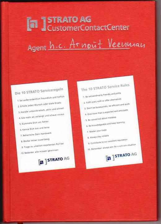 STRATO CustomerContactCenter dagboek