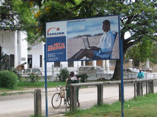 Zanlink billboard in Zanzibar (Tanzania)
