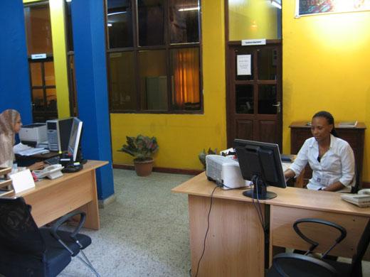 Zanlink front office in Zanzibar (Tanzania)