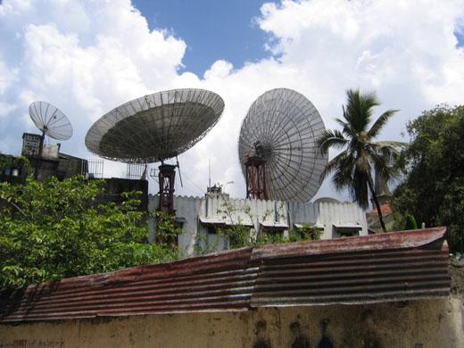 Zanlink sateliet in Zanzibar (Tanzania)