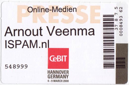 CeBIT 2008: Veenma