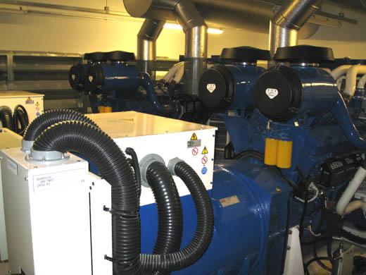 Databarn datacentrum: Diesel generatoren