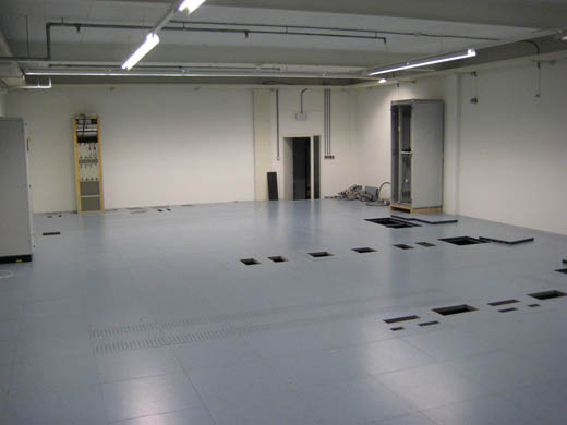 GrafiX datacentrum Alphen aan den Rijn: Datavloer
