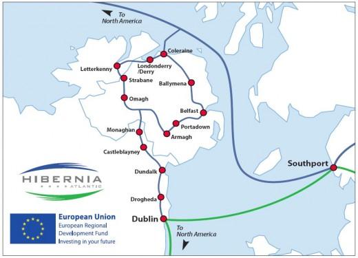 Hibernia Atlantic Ierland trans-Atlantische kabel