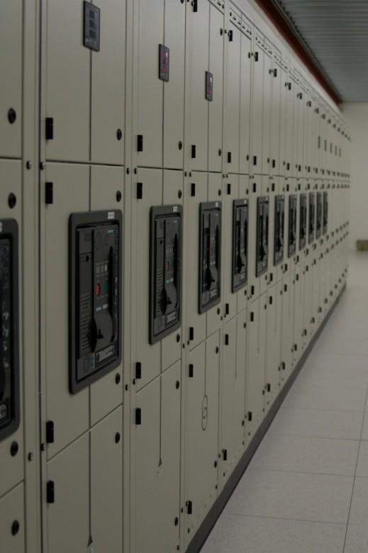 Interoute datacentrum: Schakelkasten