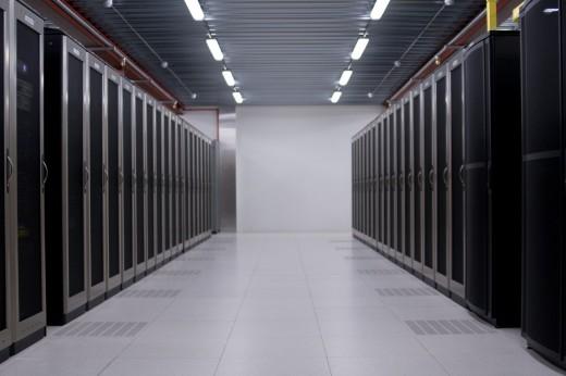 Interoute datacentrum: Datavloer