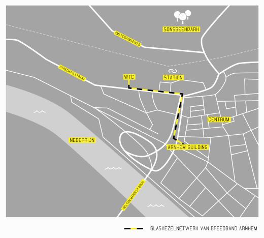 Breedband Arnhem - Kaart
