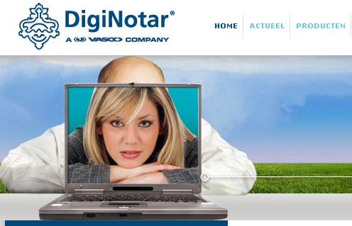 Diginotar Website