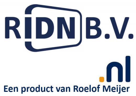 RIDN B.V. + .nl Een product van Roelof Meijer