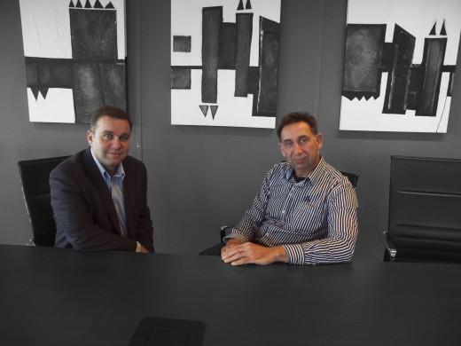 Jeroen van de Lagemaat van NDIX (rechts) en Mike Hollands van Interxion