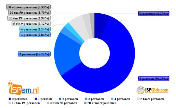 Aantal werkzame personen bij hosters