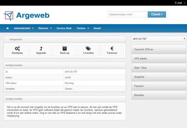 argeweb-cp-licenties