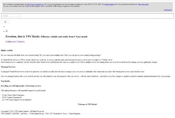 VPS Markt screenshot