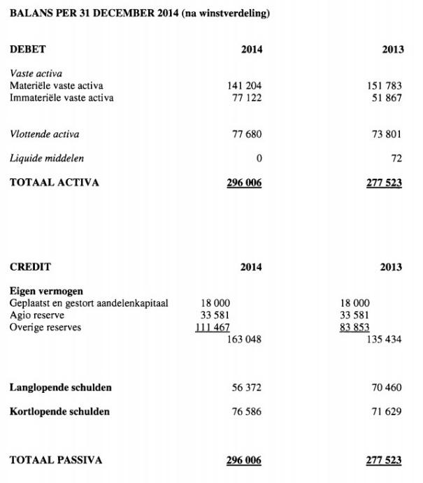 Bizway Balans 2014
