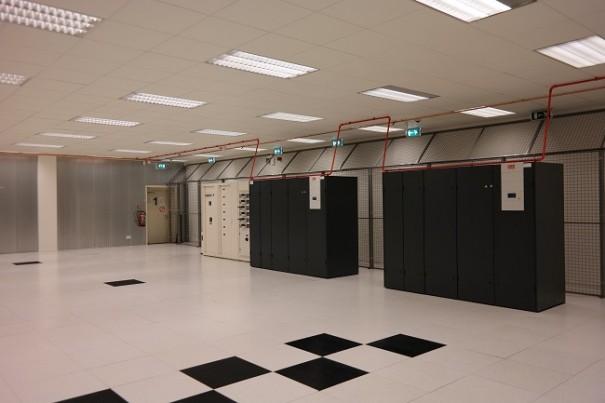 De noodstroomvoorziening in het datacenter.
