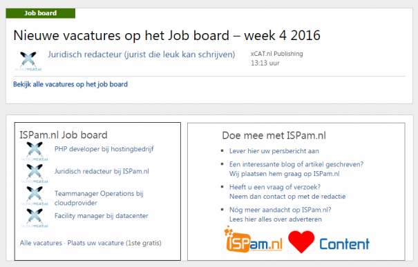 ispam-job-board-voorbeeld