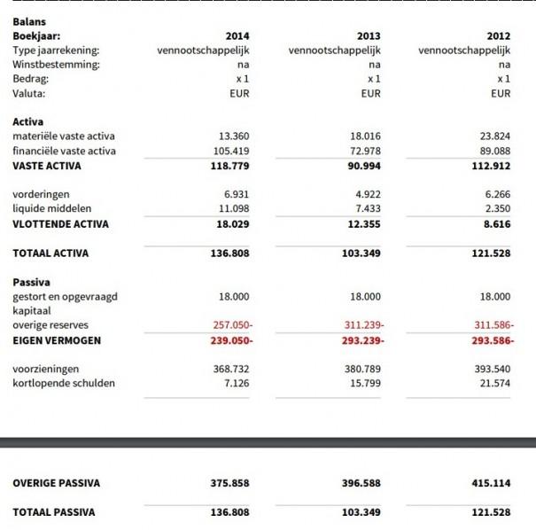QDC Holding Balans 2014